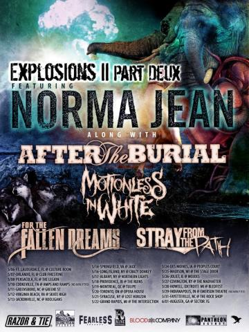 Sledujte celé sety od Norma Jean, After The Burial, Motionless In White a For The Fallen Dreams