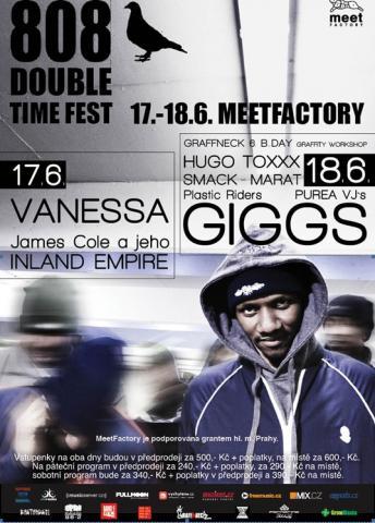 Britský rapper Giggs bude headlinerem alternativního 808 Double Time Festu v MeetFactory