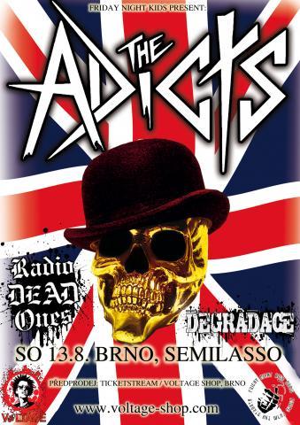 Legendární punkáči The Adicts se chystají do Brna