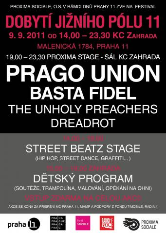 Hlavními hvězdami DOBYTÍ JIŽNÍHO PÓLU budou Prago Union + Live Band a Basta Fidel.