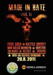 Na festivalu Made in Hate vystoupí největší hvězdy českého hardcoru!