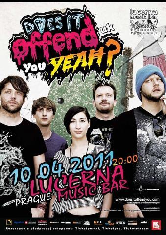 Does It Offend You, Yeah? vás varují před svým pražským koncertem, na kterém jim budou předskakovat pražští LUS3