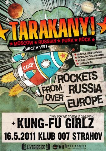 Punk rock z Ruska Tarakany již brzy na Sedmičce!