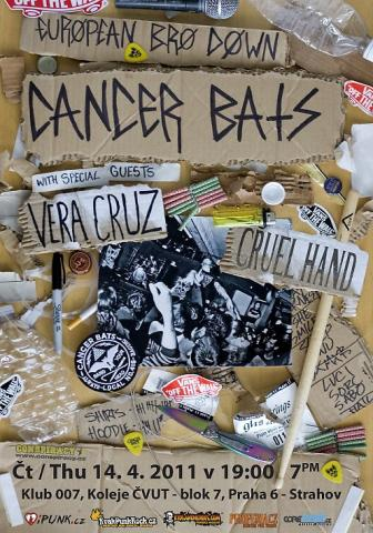Cancer Bats (CAN), Cruel Hand (USA), Vera Cruz (FR...