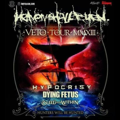 HEAVEN SHALL BURN, HYPOCRISY, DYING FETUS, BLEED FROM WITHIN, 1. 12. 2013 Praha, Meet Factory